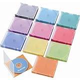 ELECOM CD DVD Blu-ray スリムプラケース 1枚収納 50枚 10色 CCD-017L10C
