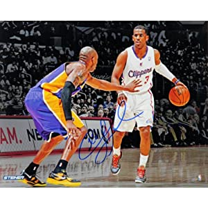 NBA Los Angeles Clippers Chris Paul vs. Kobe Bryant Signed Photo, 16 x 20-Feet by Steiner Sports