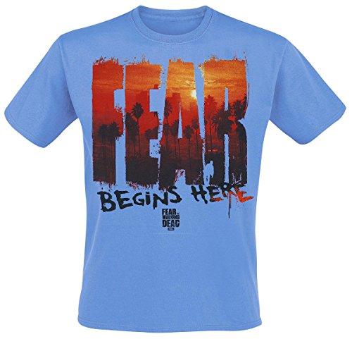 Fear The Walking Dead -  T-shirt - Uomo blu XX-Large