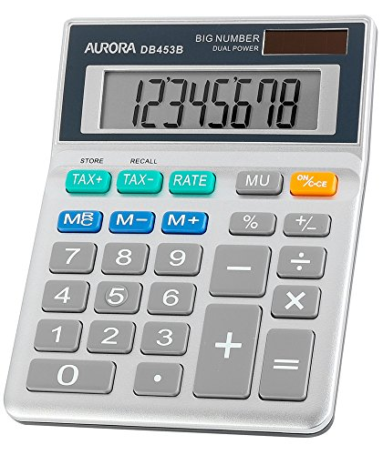 aurora-db453b-semi-desktop-calculator-with-tax-function
