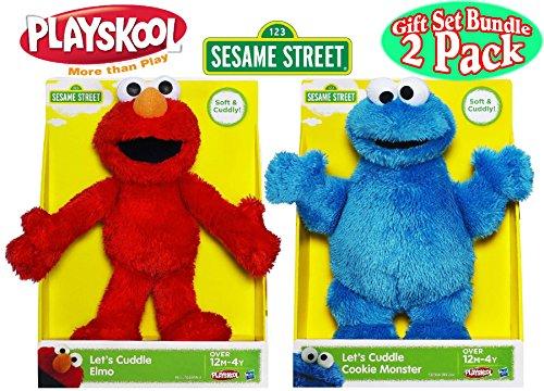 <b>Let's Cuddle Plush Elmo & Cookie Monster</b>
