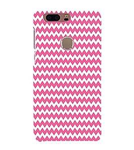 Pink Chevron Design 3D Hard Polycarbonate Designer Back Case Cover for Huawei Honor 8