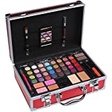 Cameo Carry All Trunk Train Case With Make Up And Reusable Aluminum Case