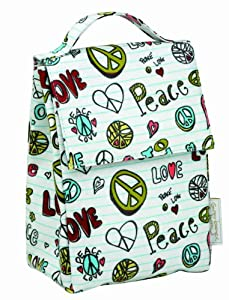 Sugarbooger Classic Lunch Sack, Peace Love