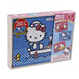 Sanrio 3 PCS Hello Kitty Real Wood Jigsa...