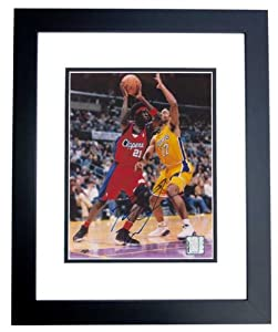 Darius Miles Autographed Hand Signed Los Angeles Clippers 8x10 Photo - BLACK CUSTOM... by Real+Deal+Memorabilia