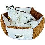 Armarkat Pet Bed, C02NZS/MB, Brown & Ivory