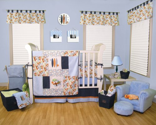Best Seller Surf'S Up 3Pc Crib Bedding Set By Kitty4U front-1016893