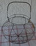 Eierkorb Korb Metall Drahtkorb Landhaus Stil shabby Nostalgie 40 cm