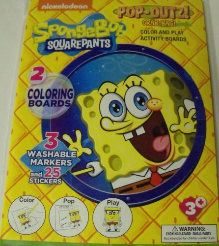 Spongebob Squarepants Pop-Outz Grab Bag ~ Color, Pop-out, Play (Underwater Adventures)