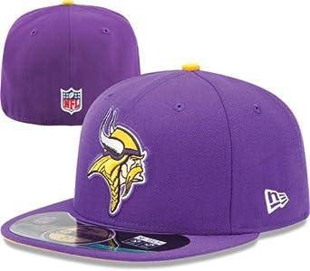 NFL Mens Minnesota Vikings On Field 5950 Purple Game Cap By New Era by New Era