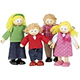 Tidlo Wooden Dolls House Doll Family