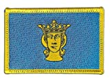 Sweden Stockholm Flag embroidered Iron-On Patch