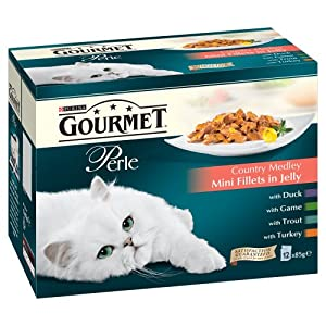 Gourmet Perle Country Medley in Jelly 12 x 85 g (Pack of 4, Total 48 Pouches)
