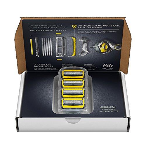 Gillette Fusion Proshield Razor Blades Refill, 4 count (Fusion Blades 4 compare prices)