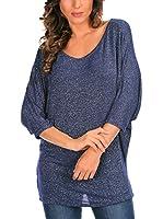 Bleu Marine Camiseta Manga Larga Mathilde (Azul Marino)