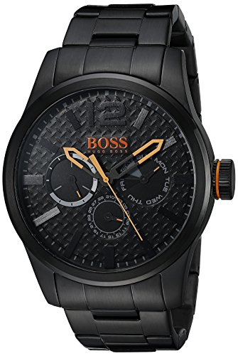 Hugo Boss Orange Paris Black PVD Stainless Steel Mens Watch 1513239