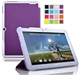 VSTN ® Acer Iconia Tab 10 A3-A20 ultra-thin Smart Cover Case with Auto Sleep / Wake Faction, Only fit Acer Iconia Tab 10 A3-A20 tablet (Smart case, Purple)