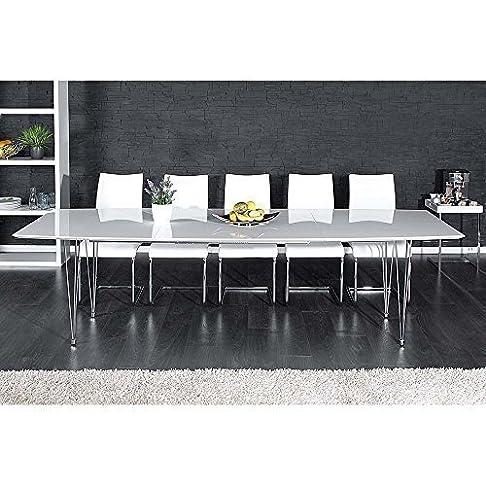 Tavolo da pranzo per la sala da pranzo tavolo per sala da pranzo continente bianco lucido allungabile 170/270 cm 10975