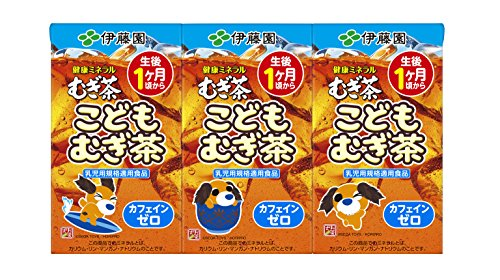 伊藤園 健康ミネラルむぎ茶 こどもむぎ茶(紙パック) (125ml×3本)×12本
