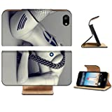 White Female Robot Humanoid Design Apple iPhone 5 / 5S Flip Cover Case with Card Holder Customized Made to Order Support Ready Premium Deluxe Pu Leather 5 3/16 inch (132mm) x 2 11/16 inch (68mm) x 9/16 inch (14mm) MSD iPhone 5 Professional Cases Touch Accessories Graphic Covers Designed Model Folio Sleeve HD Template Designed Wallpaper Photo Jacket Wifi 16gb 32gb 64gb Luxury Protector Wireless Cellphone Cell Phone