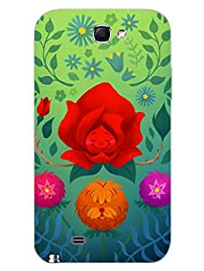 Samsung Note 2 Back Cover - Bliss, Peace and Love - Designer Printed Hard Shell Case