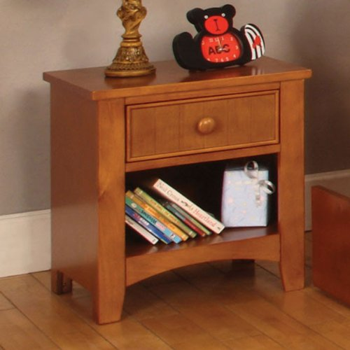 Solid Wood Youth Oak Finish Night Stand front-918575