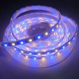 SINOLLC 5M DC12V 5050 SMD Silicone Tube IP67 Waterproof RGBWW LED Strip RGB Warm White Color Alternating Colorful LED Light Strip for Wedding Party Holiday Outdoor LED Lighting+40keys RGBW LED Controller