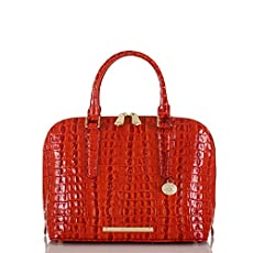 Vivian Dome Satchel<br>Vermillion La Scala
