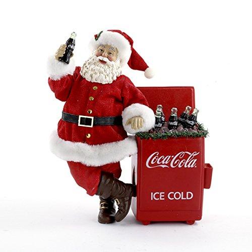 Coca-Cola Kurt Adler Fabriche Santa Cooler Table Piece, 11-Inch (Vintage Coke Cooler compare prices)