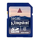 Kingston 16 GB Class 4 SDHC Flash Memory Card SD4/16GB