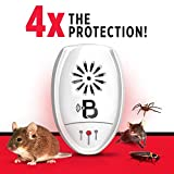 Pest Block Ultrasonic Pest Repeller - Pack of 4 - Repels Mice, Rats, Roaches, Spiders, & Other Insects - Home Pest Control Solution