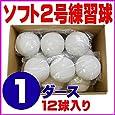 ソフトボール 2号 練習球 スリケン 検定落ち 1ダース (12球入り) Training-soft2-12
