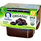 Gerber Baby 1st Foods, Organic Prunes, 2 - 2.5 oz Containers Per Package