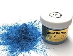 Slice of the Moon Flashing Blue Mica Powder 1oz, Blue Metallic Powder, Cosmetic Mica, Slice of the Moon