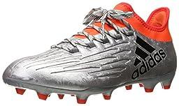 adidas Performance Men\'s X 16.2 FG Soccer Shoe, Silver Metallic/Black/Infrared, 11 M US