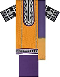 Laxmi Creations Women's Cotton Unstitched Dress Material (Mustard Yellow)