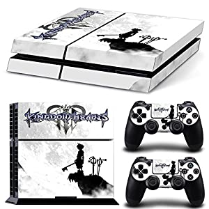 Ps4 Playstation 4 Console Skin Decal Sticker Kingdom Hearts Design + 2 Controller Skins Set
