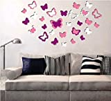 3D Easy-to-Peel Adhesive Removable Butterfly Shaped Wall Décor Sticker - Modern Home Office Wall Décor Room Decoration Ideas