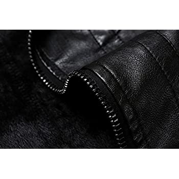 Men's Vintage Stand Collar Faux Leather Jacket