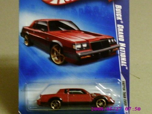 Hot Wheels 2009 Faster Than Ever Venetian Red Buick Grand National w/ Copper OH5SPs #131 (05 of 10) 1:64 Scale - 1