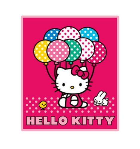 Hello Kitty Blanket - Hello Kitty Sanrio Throw (50 x 60 in) Baloon - 1