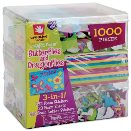 fibre-craft-3-in-1-foam-kit-butterflies-dragons-1000-pcs