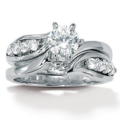 Cubic Zirconia Wedding Set Size: 7