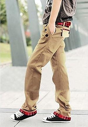(NAIL39) メンズ 無地 柄 ストリート ファッション チェックパンツ チノパン カーゴパンツ ボトムス ボトム カジュアル メンズ デザイン オフタイム スポーツ