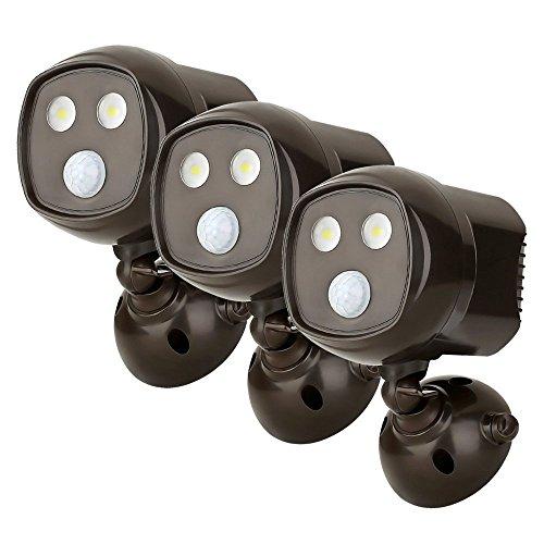 LE Riflettore a LED senza Fili con Sensore di Movimento, 300l, Impermeabile IP65, Automatica Acceso/Spento con Fotocellula PIR, Faretti Rilevamento del Movimento, Applicabile a Parete con Rilevamento del Movimento, per Portici, Viali, Ville private, Confezione da 3 unità