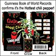 Ghost Chili Pepper - The Hottest Pepper In The World 1000000 Heat Laval from The Patent Magic Plant Company