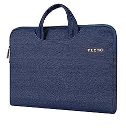 Plemo 13-13.3 Inch Laptop Sleeve Case Waterproof Denim Fabric Bag for MacBook Air / 13.3-Inch Laptops / Notebook, Blue