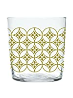 Enjoy Home Set Vaso 4 Uds. Magatama 37 cl Transparente/Amarillo