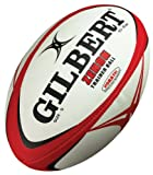 Gilbert Zenon Trainer Rugby Ball (Scarlet/Black, Size-5)